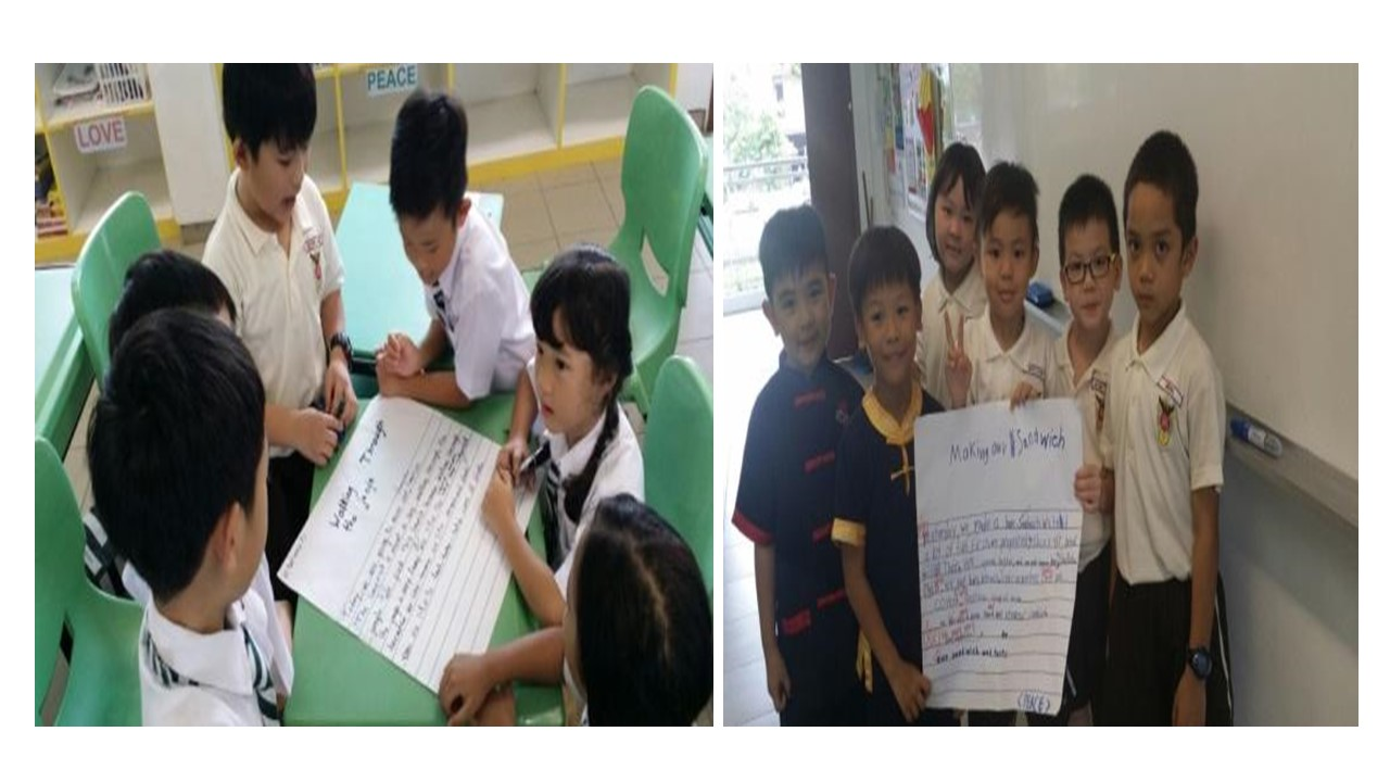 Children engaging in Group Writing